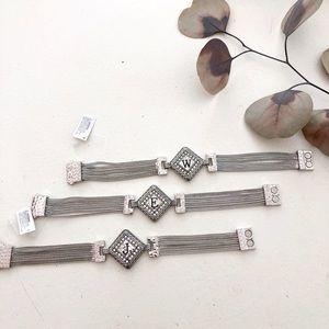 ⭐️ Ganz Zinc Monogram Bracelet